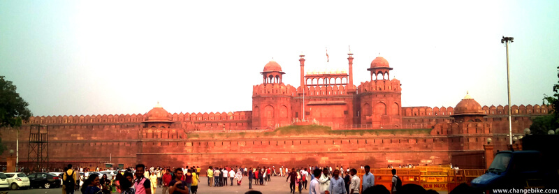 bike tour changebike red fort india