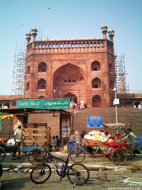 cycle touring changebike jama masjid india