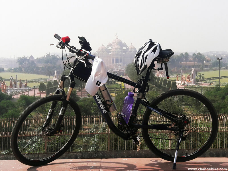 bike trip changebike akshardham india