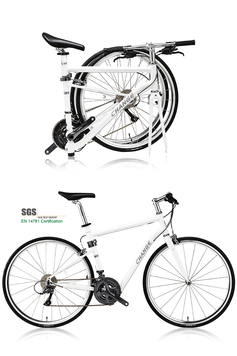 Folding Bike Road 700c Bicycle Roll Carry Shimano 24s 10